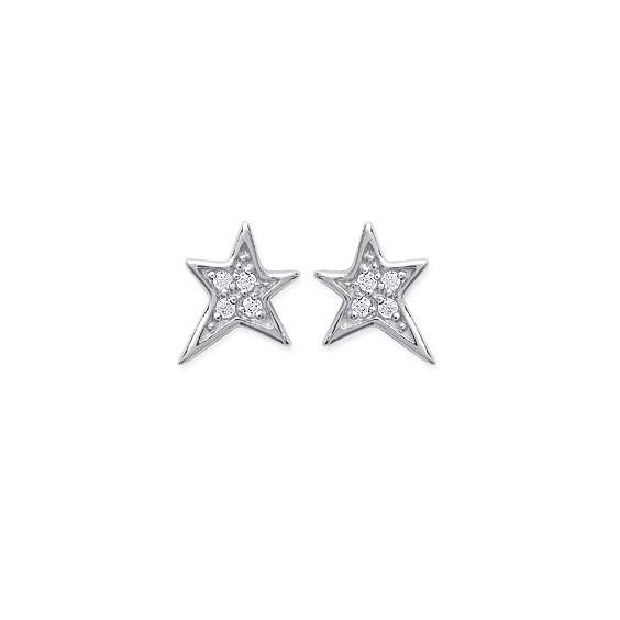 Boucles d'oreilles étoiles argent - La Petite Française