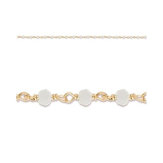 Bracelet enfant cristal blanc plaqué or - La Petite Française