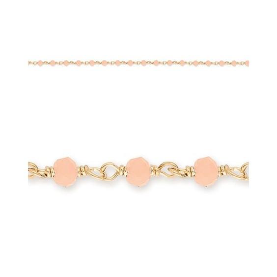 Collier enfant cristal rose plaqué or - La Petite Française