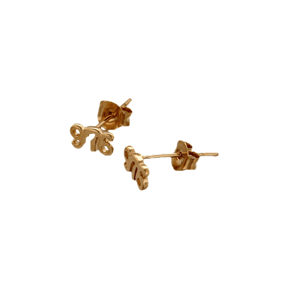 Boucles d'oreilles Mayotte 976 plaqué or  - La Petite Française