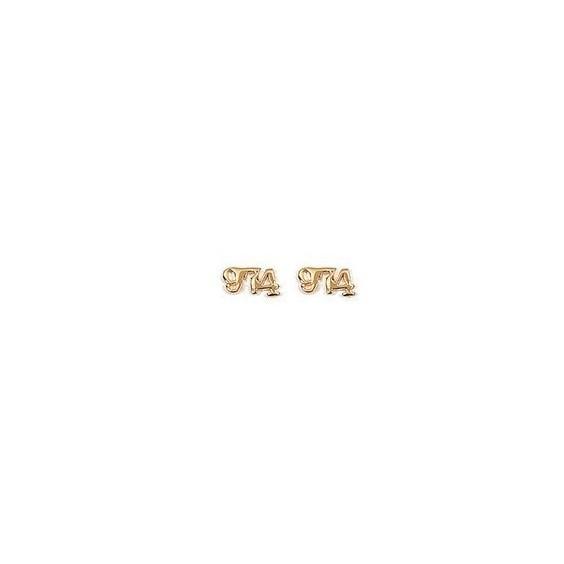 Boucles d'oreilles 974 plaqué or - La Petite Française