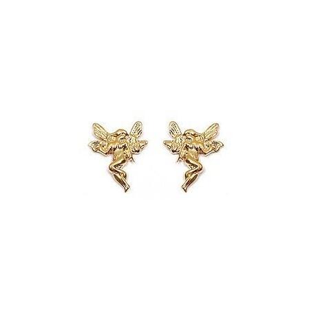 Boucles d'oreilles fées plaqué or - La Petite Française