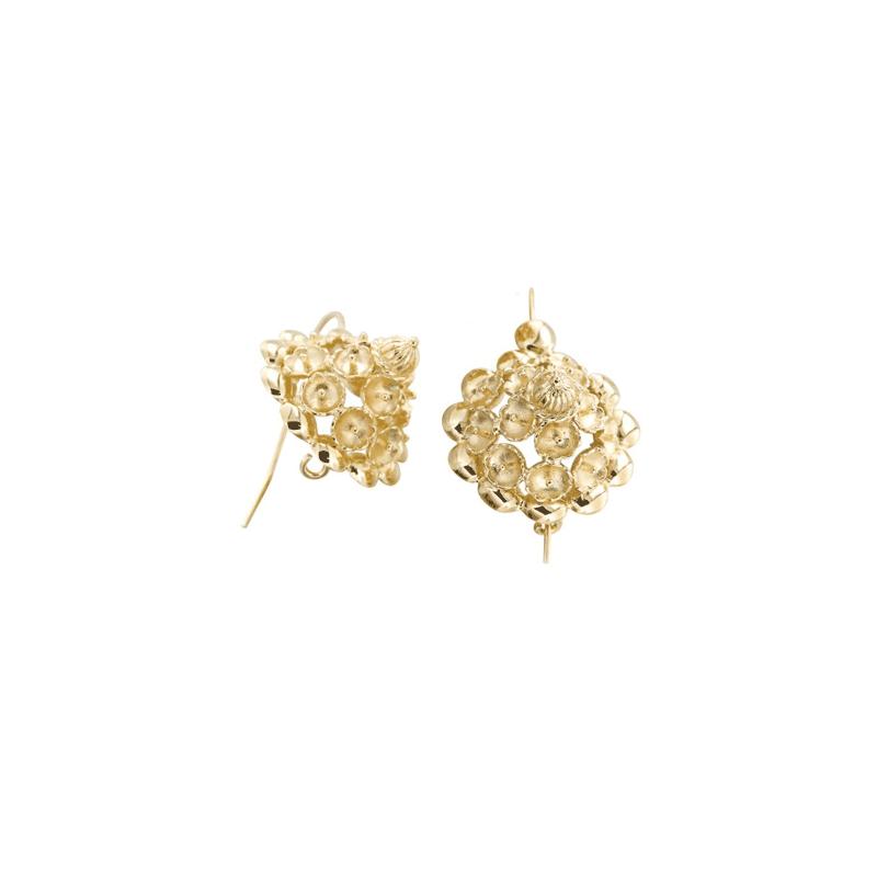 Boucles d'oreilles Tété négresse plaqué or - La Petite Française