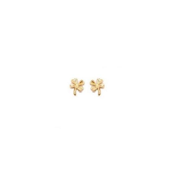 Boucles d'oreilles trèfles plaqué or - La Petite Française