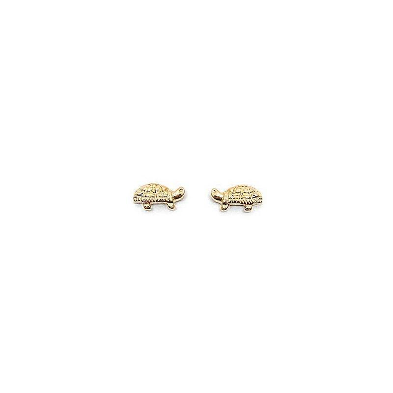 Boucles d'oreilles tortues plaqué or