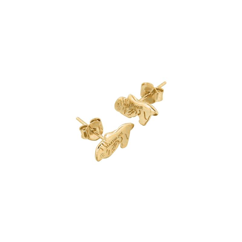 Boucles d'oreilles Martinique plaqué or - La Petite Française