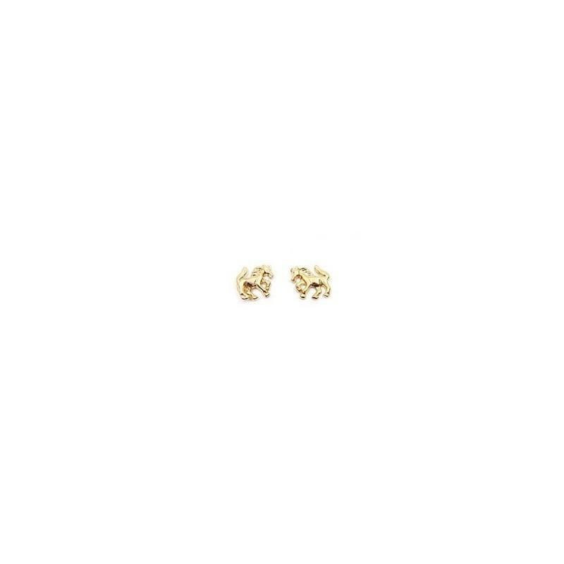 Boucles d'oreilles Chevaux plaqué or - La Petite Française