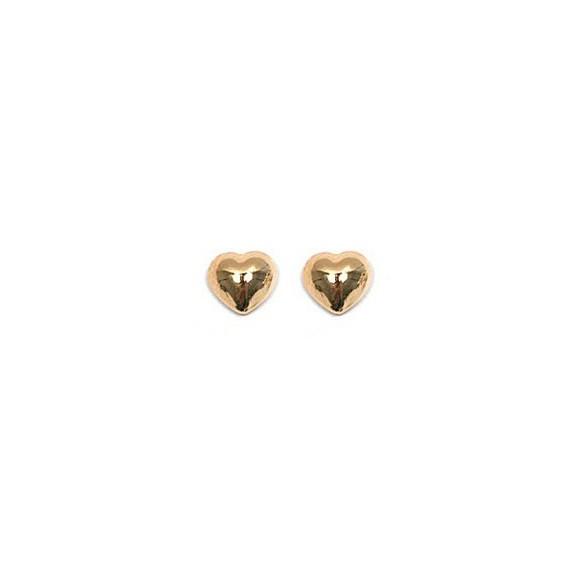 Boucles d'oreilles coeurs plaqué or - La Petite Française