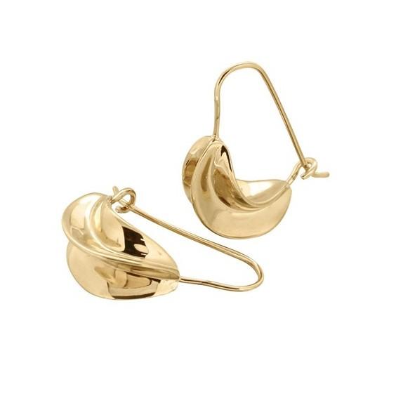 Boucles d'oreilles carambole plaqué or - La Petite Française