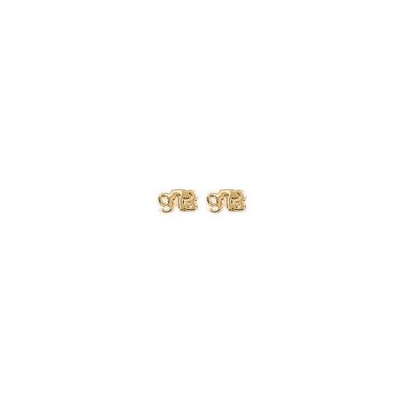 Boucles d'oreilles Guyane 973 plaqué or PM - La Petite Française