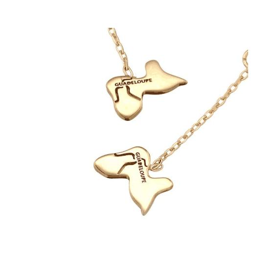 Boucles d'oreilles Guadeloupe pendantes plaqué or - La Petite Française