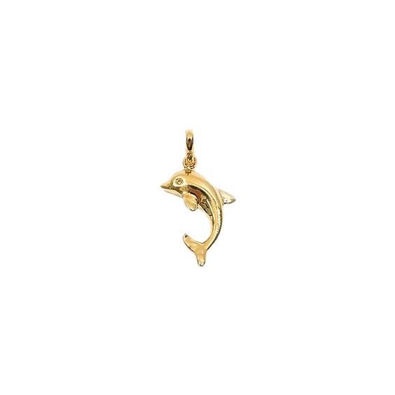 Pendentif dauphin plaqué or - La Petite Française