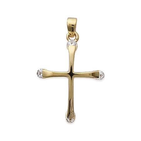 Croix oxydes et plaqué or - La Petite Française