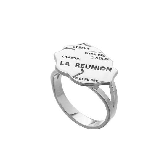Bague carte Réunion Argent - La Petite Française