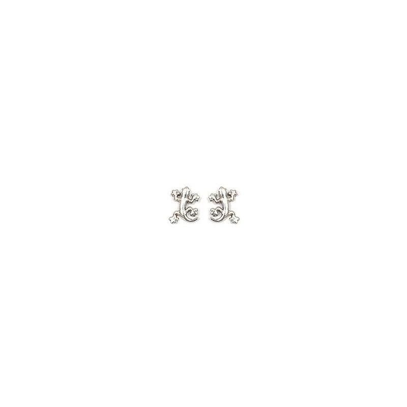 Boucles d'oreilles salamandre argent - La Petite Française