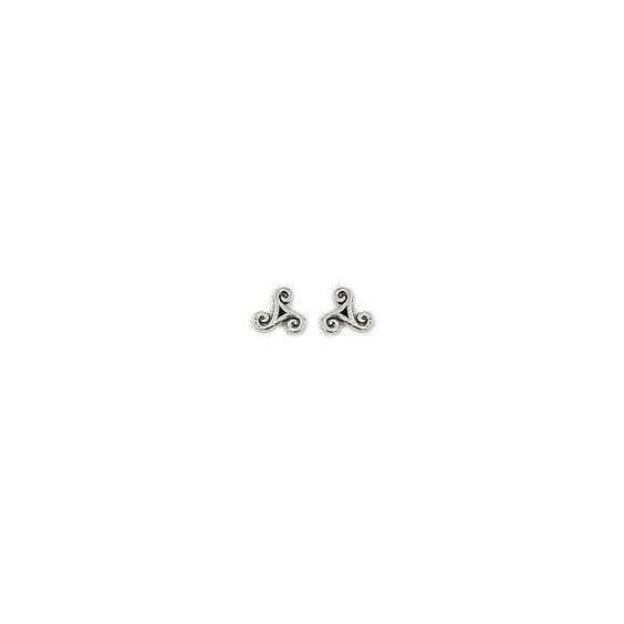 Boucles d'oreilles Triskel Paskell Argent - La Petite Française