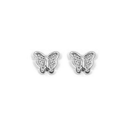 Boucles d'oreilles papillons d'argent - La Petite Française