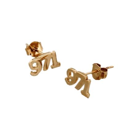 Boucles d'oreilles 971 plaqué or - La Petite Française