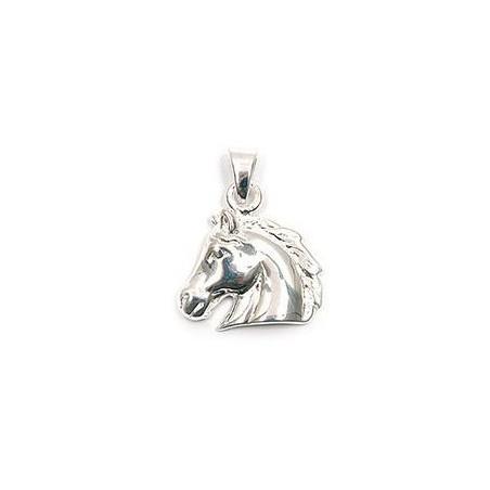 Pendentif tête de cheval argent - La Petite Française