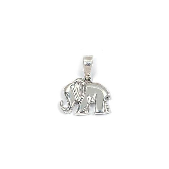 Pendentif éléphant argent - La Petite Française