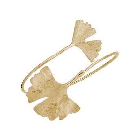 Bracelet Ginkgo biloba 2 feuilles Or 18 carats - La Petite Française