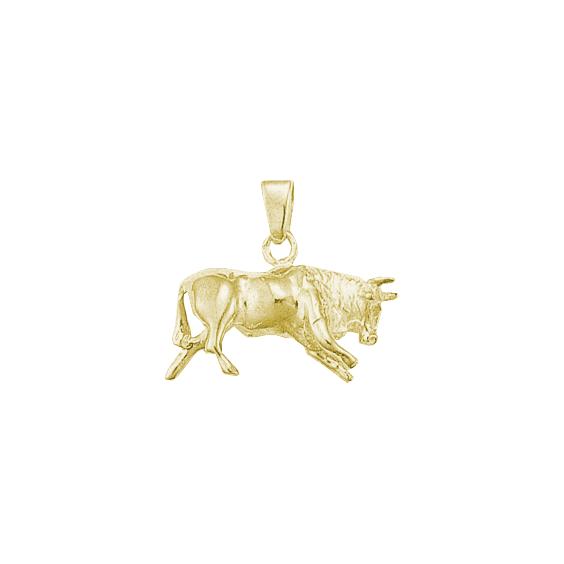 Pendentif taureau Or 9 carats jaune- 23 MM - La Petite Française