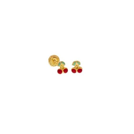 Boucles d'oreilles cerises Or 18 carats - La Petite Française