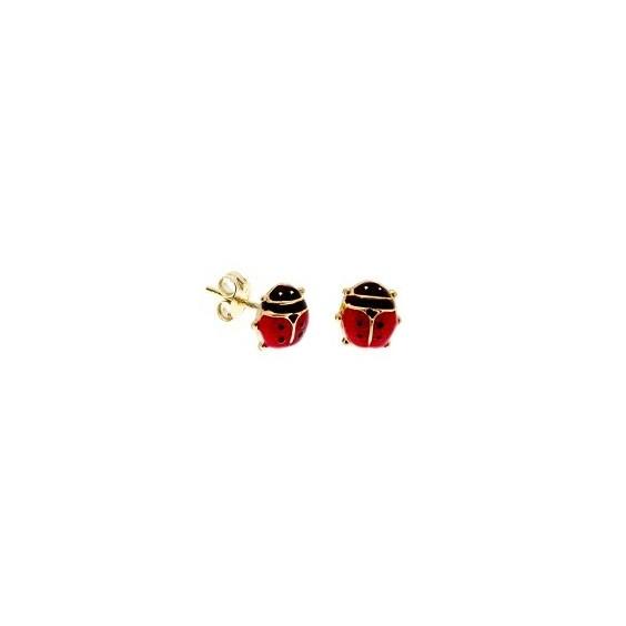 Boucles d'oreilles coccinelles Or 18 carats - La Petite Française