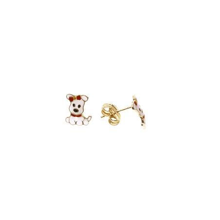 Boucles d'oreilles chiots Or 18 carats - La Petite Française