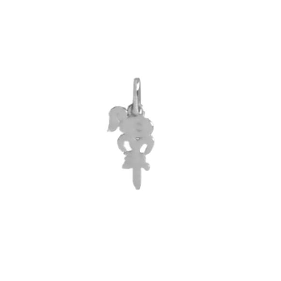 Pendentif idéogramme chinois bélier Or 18 carats gris - La Petite Française