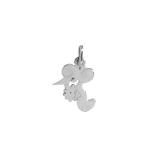Pendentif idéogramme chinois verseau Or 18 carats gris - La Petite Française