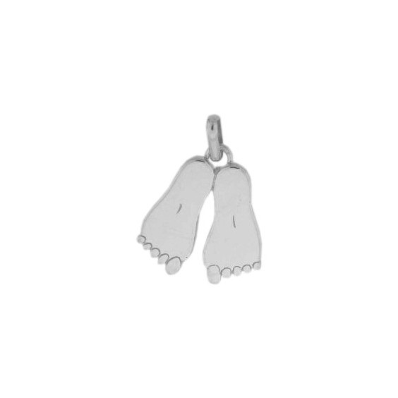 Pendentif pieds Or 18 carats gris - La Petite Française
