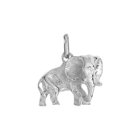 Pendentif éléphant Or 18 carats gris - 18 x 18 MM - La Petite Française