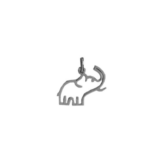 Pendentif éléphant Or 18 carats gris évidé - La Petite Française