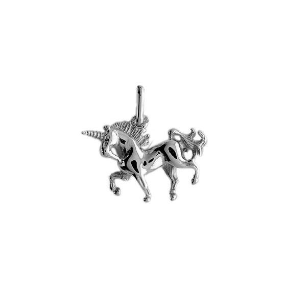 Pendentif Licorne Or 18 carats gris - La Petite Française