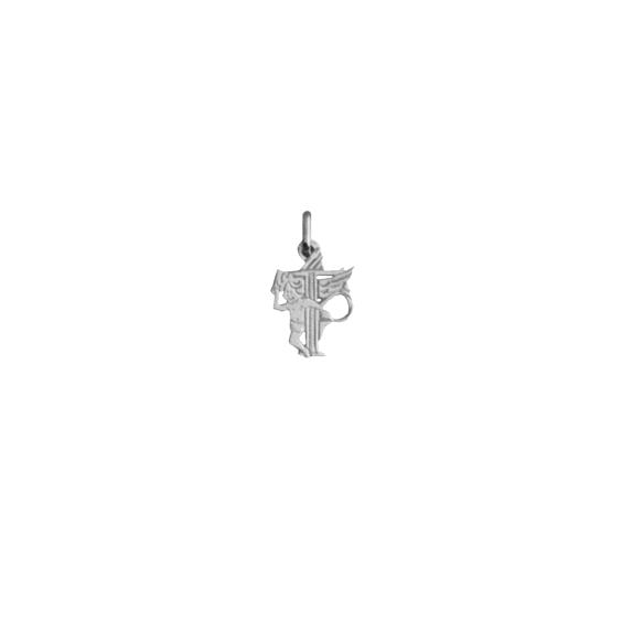 Pendentif ange lettre T Or 18 carats gris - La Petite Française
