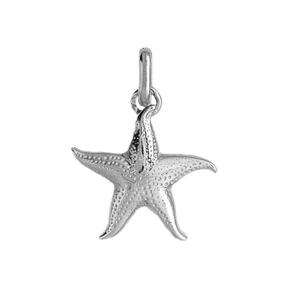 Pendentif étoile de mer  Or 18 carats gris - La Petite Française