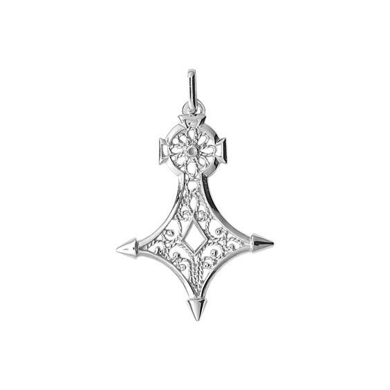 Croix du sud filigrane Or 18 carats gris - 47 MM - La Petite Française