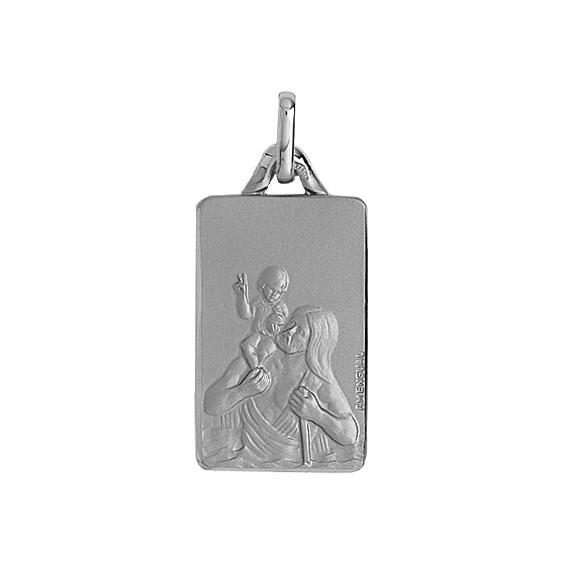 Médaille Saint-Christophe Or 18 carats gris - La Petite Française