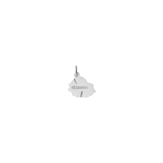 Pendentif carte la Réunion Or 18 carats gris - 20 MM - La Petite Française