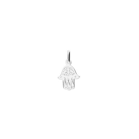 Pendentif main protectrice filigrane Or 18 carats gris - 20 MM - La Petite Française