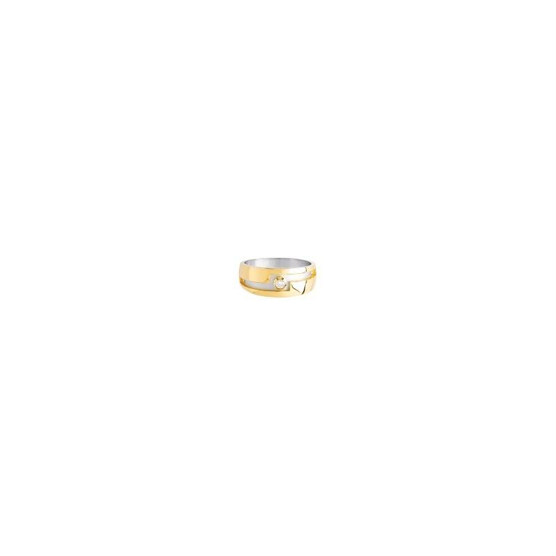 Chevalière Belcourt Or 9 carats bicolore - La Petite Française