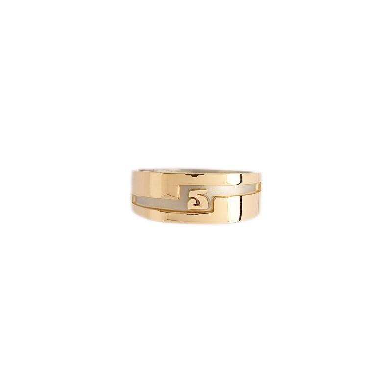 Chevalière Dalmont initiale Or 9 carats bicolore - La Petite Française