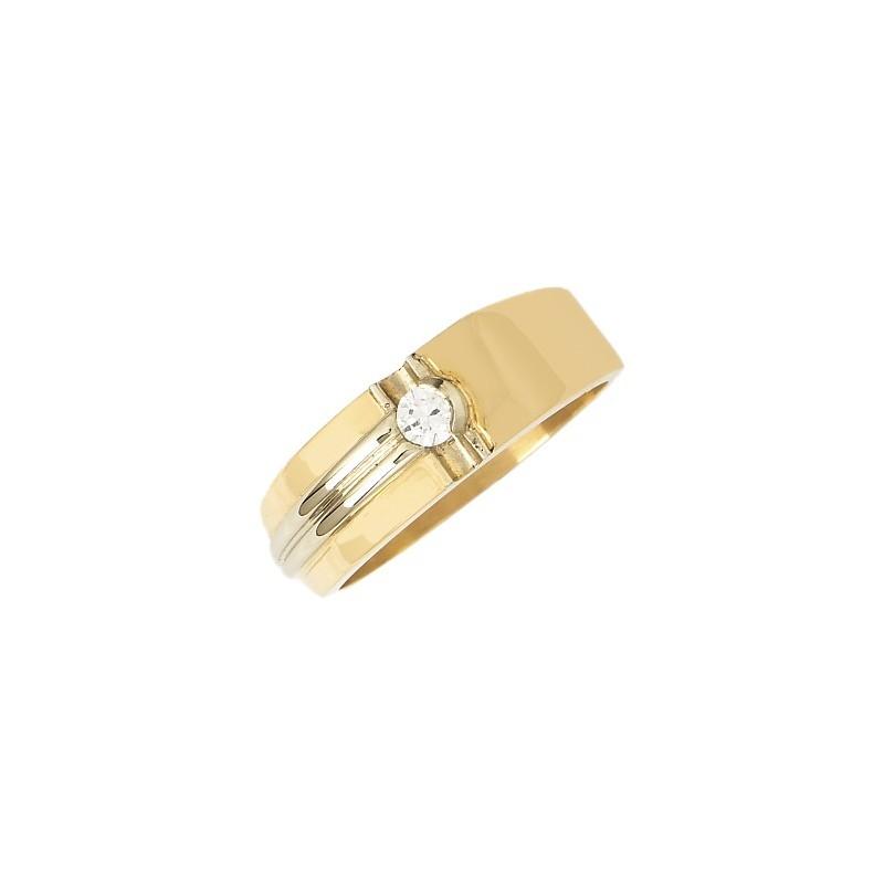 Bague Flavius diamant Or 9 carats bicolore - La Petite Française