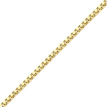 Chaîne Vénitienne Or 18 carats jaune 0.80 mm - 40 cm - La Petite Française