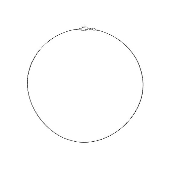 Collier cable argent 1mm - 42 cm - La Petite Française