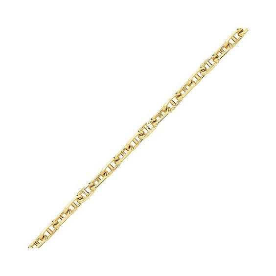 Chaîne maille marine Or 9 carats jaune 1.10 mm - 45 cm - La Petite Française
