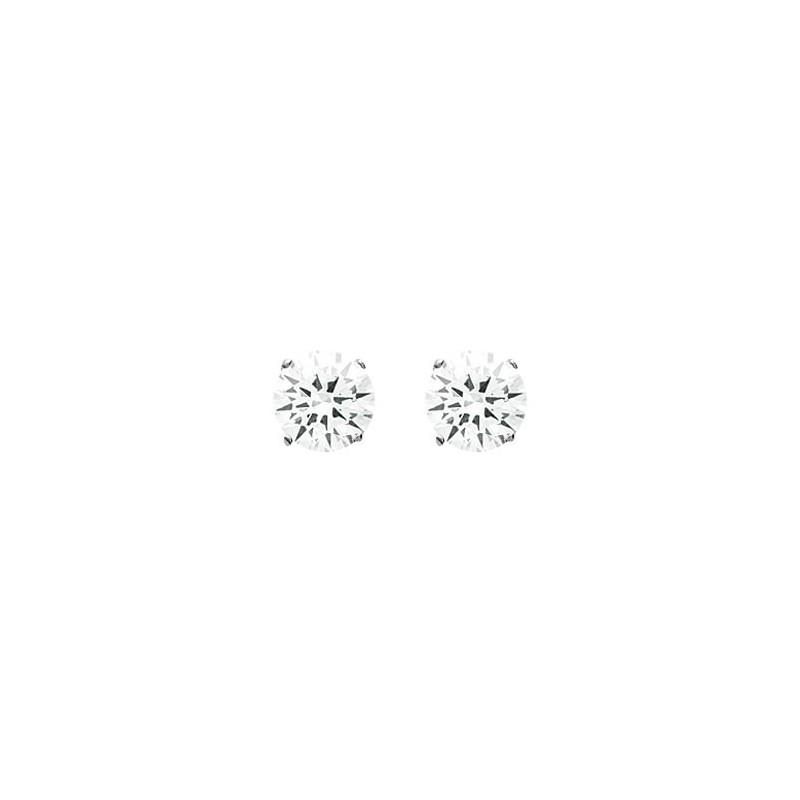 Boucles d'oreilles oxyde 6 mm argent - La Petite Française