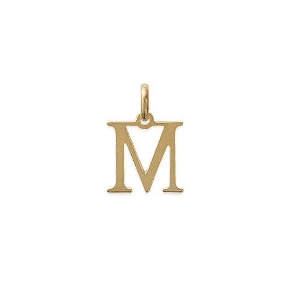 Pendentif lettre M plaqué or - La Petite Française