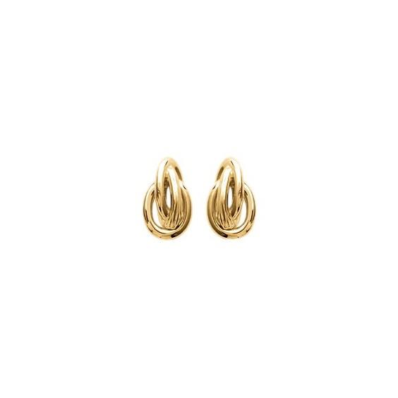 Boucles d'oreilles forçat plaqué or - La Petite Française